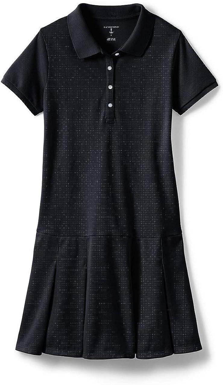 Lands' End School Uniform Little Girls Short Sleeve Mesh Polo Dress