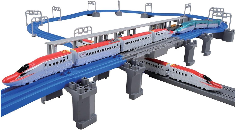 Pla Advance E6 Shinkansen consolidated and three-dimensional cross rail set (japan import)