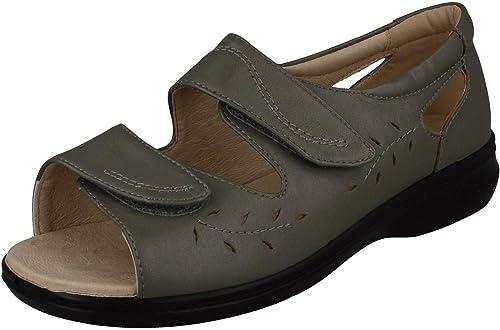 Padders - Sandalias deportivas de cuero para damen  , Farbe Silber, Größe 40