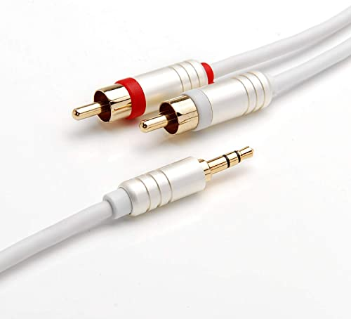 BlueRigger 3.5mm to RCA (2) Stereo Audio Cable (8 Feet / 2.4 Meters)