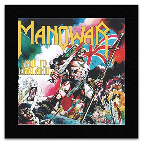 Stick It On Your Wall Manowar Mini-Poster, Motiv Hell to England, matt, 18,6 x 18,6 cm