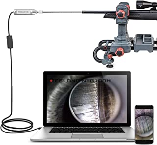 Teslong Rigid Rifle Bore Scope, 0.2inch Gun Barrel Borescope Camera with 21inch Rod and 45° Side-View Mirror, for Windows, MacBook and Android Smartphone
