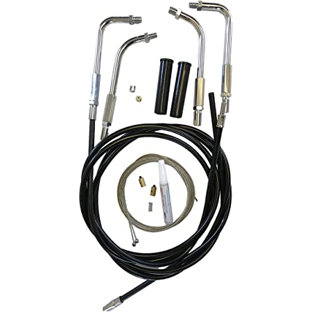 HC-0329-0136-1200X Black Vinyl Coated Throttle Cable Set for 2010 /& Newer Harley Sportster Forty Eight models
