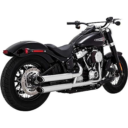 Vance /& Hines 17-19 Harley FLRT Twin Slash Rounds Slip-On Exhaust Chrome // 4
