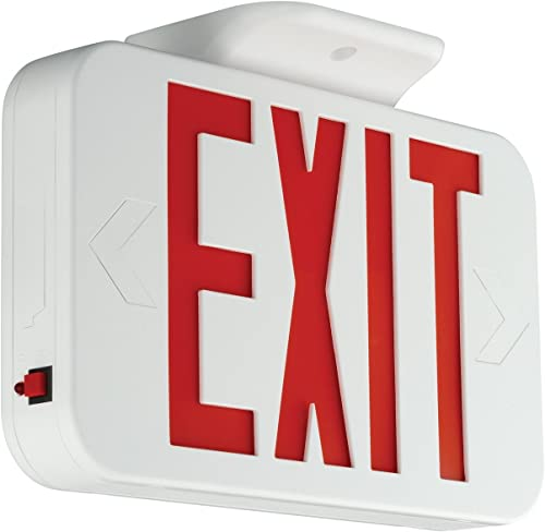 wholesale HUBBELL CER LED Emergency exit Sign, 11.6 in x 2 in x 8.2 in, outlet sale White - online Pack of 4 sale