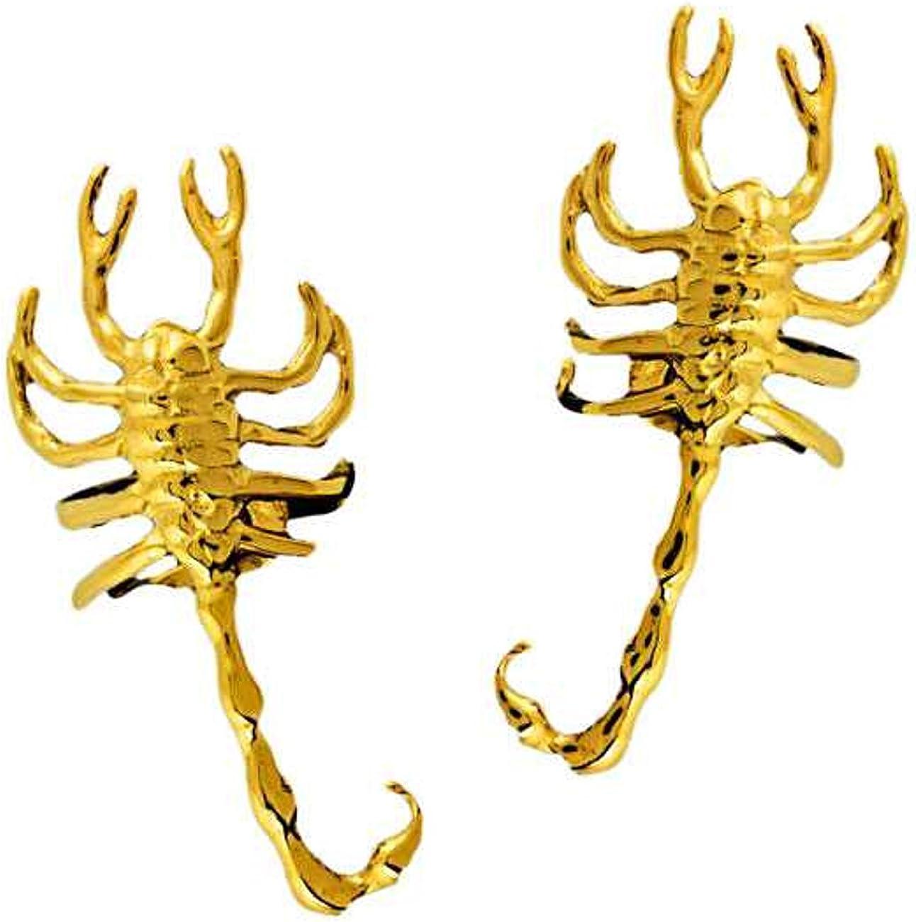Limited Superlatite time cheap sale Gold Vermeil Left And Right Cuff Wrap Ear Scorpion Set