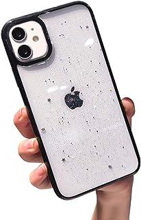 VUTR Gulligt Glitter iPhone 12/12 Pro Skal Fin Klar Baksida [Linsskydd] Stötfångare Säker Telefonfodral för iPhone 12/12 P...