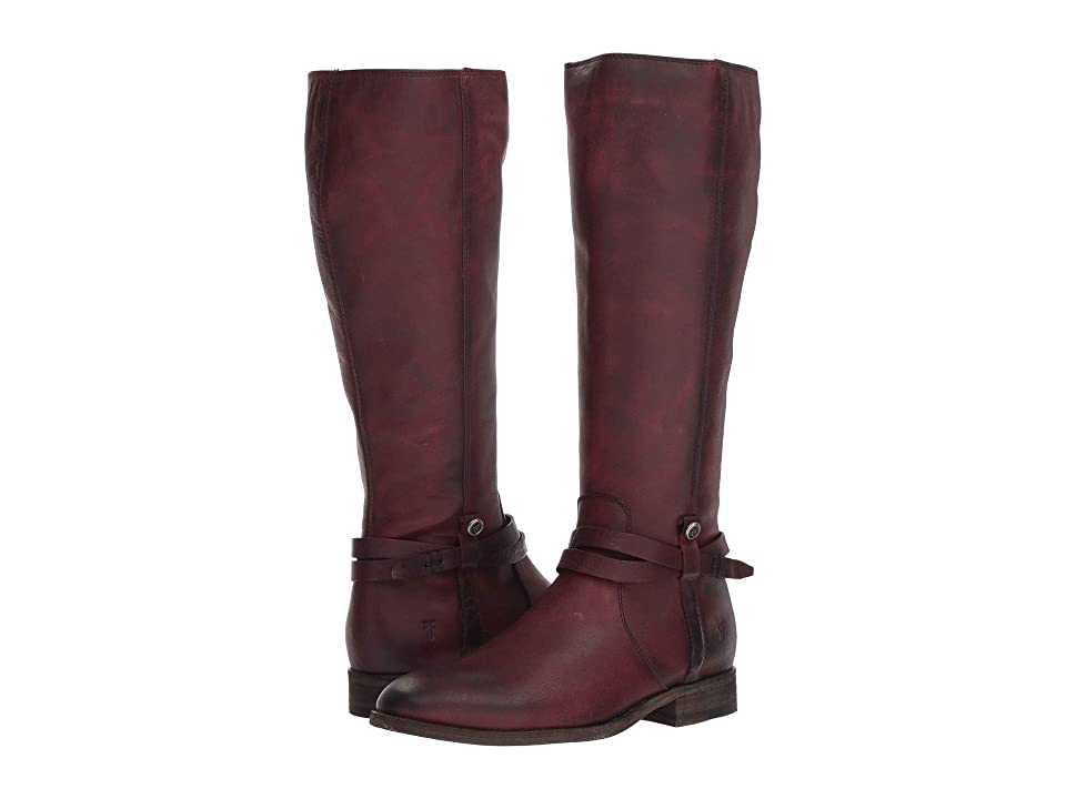 Frye Melissa Belted Tall (Wine Washed Oiled Vintage) Women