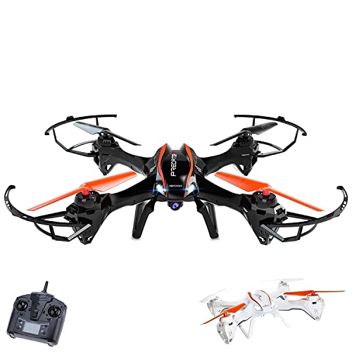 WiFi FPV Drone with 720P HD Camera - UDI U842 Predator - RC Quadcopter with Headless Mode and Low Voltage Alarm - 2 Batteries 4GB TF Card