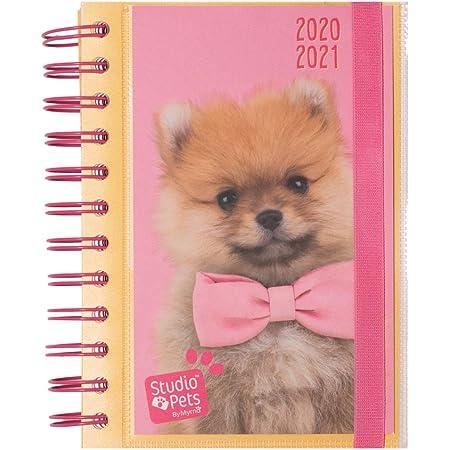 Grupo Erik Diario Scuola Giornaliero 2020/2021 Studio Pets Dog, 11 mesi, 11,4x16 cm