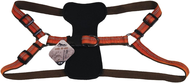 K9 Explorer Reflective Adjustable Dog Harness orange 1 x 2638 Inch