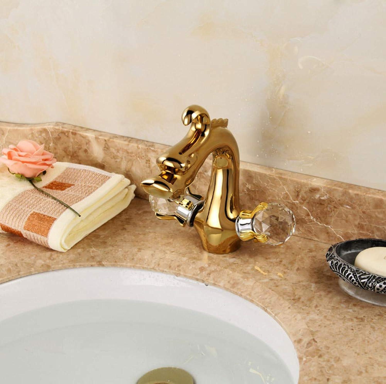 ROTOOY Gold massivem Messing Badezimmer waschbecken Wasserhahn Kunst Design Hohe qualitt waschtischmischer Wasserhahn Wasserhahn
