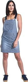 USKEES Short Dungaree Dress - Hickory Stripe Bib Overall Skirt Braces straps