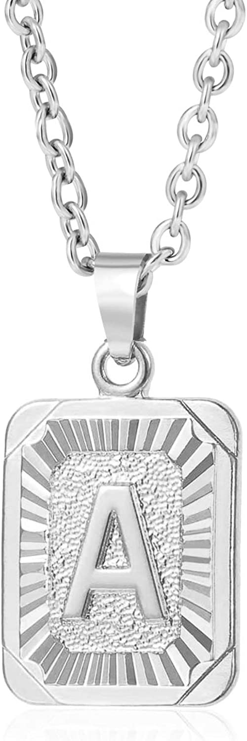 Glimmerst 5 popular Initial Pendant Luxury Necklace 18K Stainless Plated Ste Gold