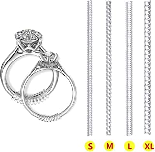 Ring Size Adjuster for Loose Rings - Invisible Transparent Silicone Ring Guard Clip Jewelry Tightener Resizer - Fit Almost Any Ring - 8 Pack, 4 Sizes