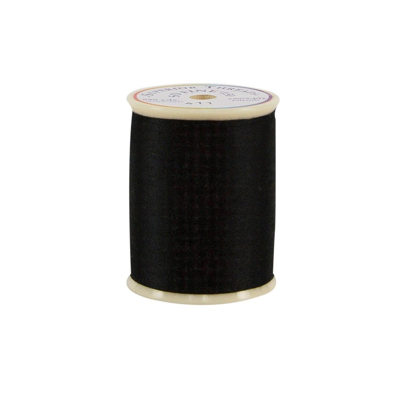 Superior Threads 11601A-411 So Fine Black 3-Ply 50W Polyester Thread, 550 yd