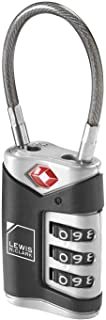 Lewis N. Clark TSA Approved Luggage Lock + Steel Cable for Suitcase, Carry On, BackPack, Laptop Bag + Purse, Perfect For A...