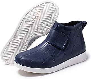 LINGZE Bottes de Pluie imperméables pour Hommes, Chaussures de Protection légères et durables, à Enfiler et à enlever Faci...