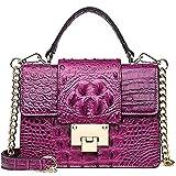Bolso de hombro Crossbody cocodrilo bolsa de la plaza de mujer con solapa del monedero del embrague con la cadena for adolescentes que señoras, mujeres bolsos de moda de cuero de la PU de la Cruz-cuer