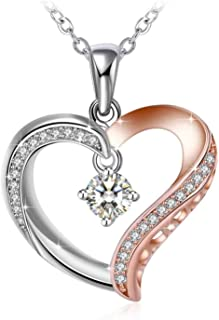 Swarovski Elements Crystal 925 Sterling Silver Pendant Necklace for Women Ladies Girls Gift JRosee Jewelry JR461
