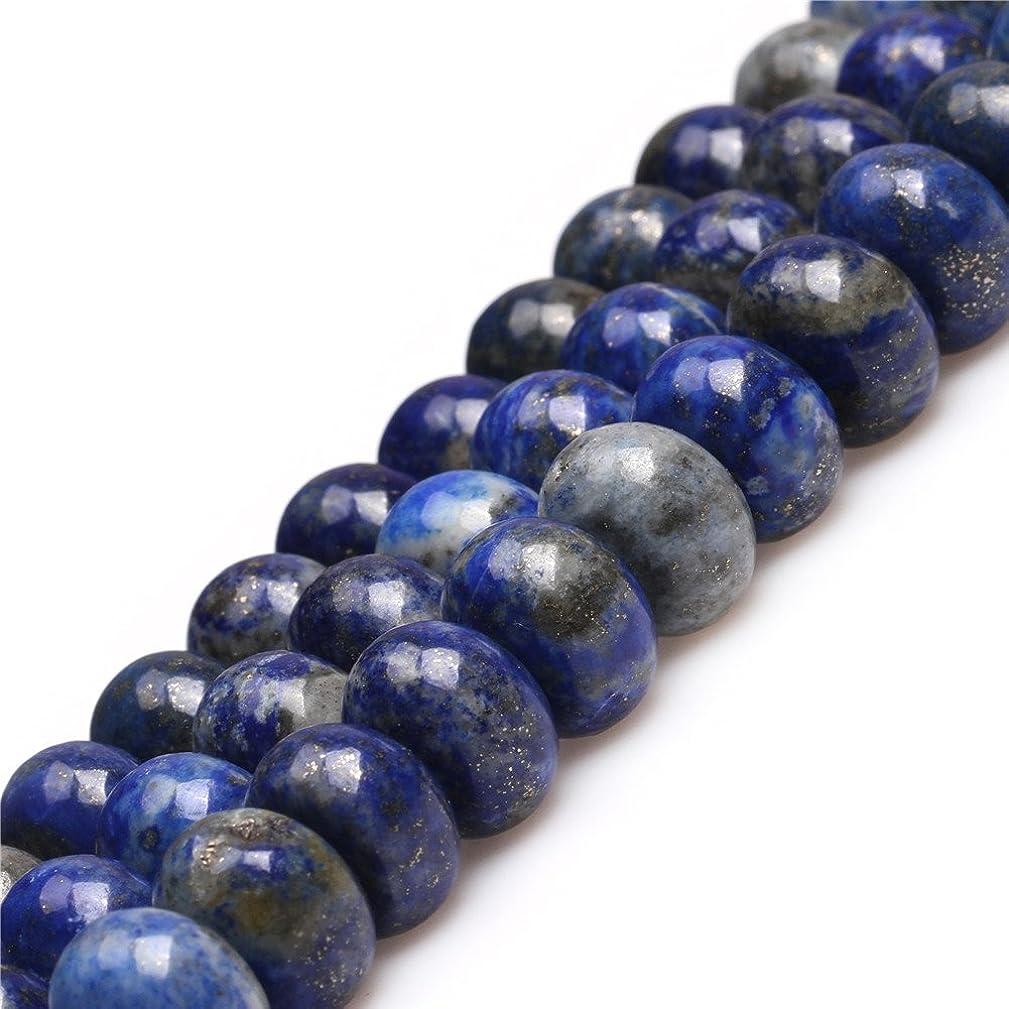 JOE FOREMAN 10x15mm Lapis Lazuli Semi Precious Gemstone Rondelle Blue Loose Beads for Jewelry Making DIY Handmade Craft Supplies 15