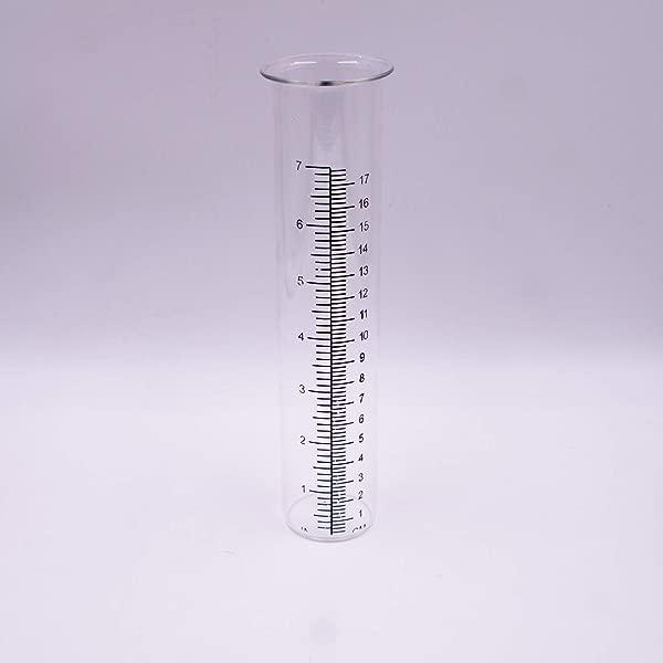 Rain Gauge Glass Replacement Tube For BOAER Frog Rain Gauge