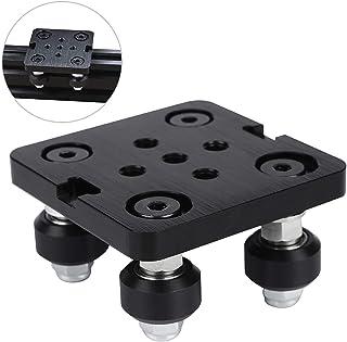 Mini V Gantry Rod Plate مع عجلة ل V-Groove الألومنيوم الشخصي 3D قطع ملحقات الطابعة مجموعة ل CNC Kossel Nema 23 Black Wheel