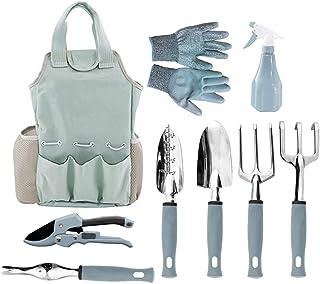 Garden Tools Set,ShowTop 9 Piece Gardening Tools with Garden Gloves and Garden Tote Gardening Gifts Tool Set with Garden T...