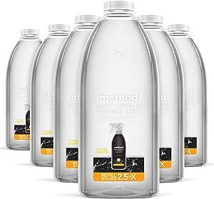 Method Daily Granite Cleaner Refill, Orange Tangerine, 68 Ounces, 6 pack, Packaging May Vary