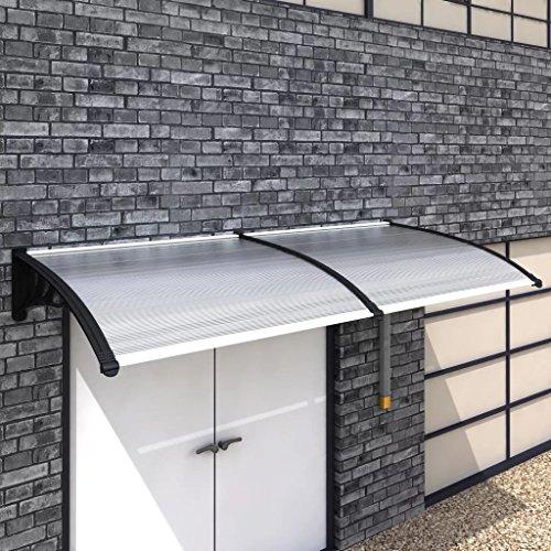 Zora Walter - Placas de policarbonato + Soporte ABS T ̈1rvordach toldos de Aluminio toldo Parasol con tamaño: 240 Á100 cm