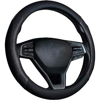 copertura del volante dellautomobile Vera Pelle Copertura Volante Colore : Black Auto Car universale Skidproof morbido silicone COPRIVOLANTE coperture della protezione