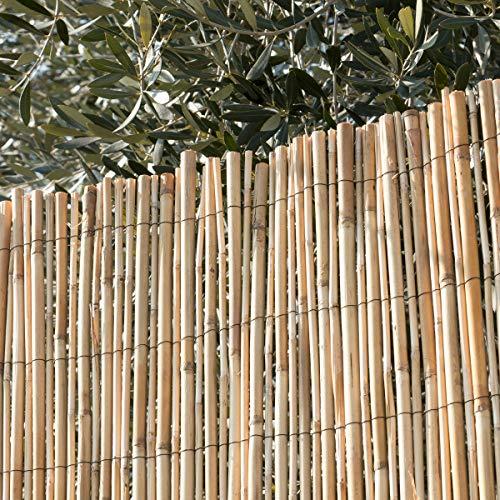 STI Arella Canniccio Big Stuoia Cannette Rilegate Ombra Recinzione Bamboo 100X300Cm