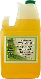 Avocado Oil Organic Pure Cold Pressed 128 Fl. Oz/1 Gallon/7 Lb