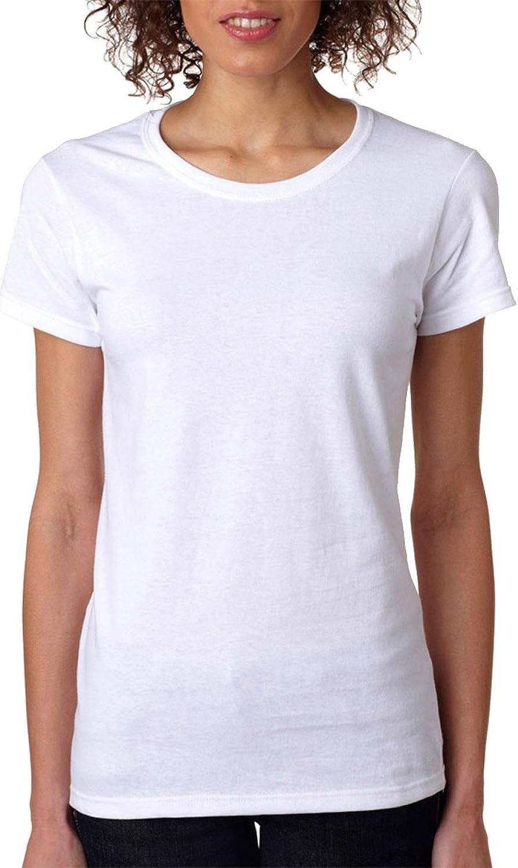 Gildan Women's Heavy Taped Neck Comfort Jersey TShirt (Pack of 10)