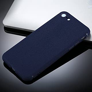 for iPhone 8 &7 Litchi Texture TPU Protective Soft Back Case (Color : Blue)