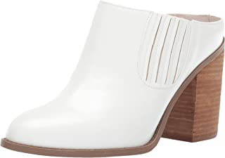 Womens Maggiee Faux Leather Block Heel Chelsea Boots