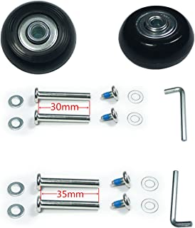 YongXuan Mute Wear-Resistant Luggage Suitcase Replacement Wheels Kit (40mm × 18mm)