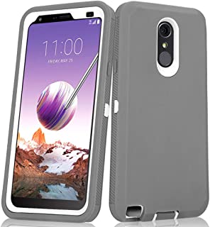 LG Stylo 3 Plus Case, Heavy Duty Shockproof Full-Body Protective Hybrid Case with Built-in Screen Protector for LG Stylo 3 / LG Stylo 3 Plus (Grey/White)