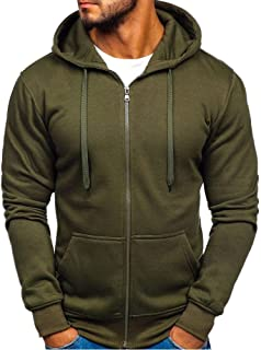 Hoodie Mens Comfortable Fashion Pleated Design Zip Hoodie Autumn and Winter New Outdoor Comfortable Casual Daily All-Match...