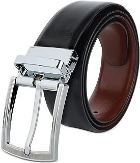 Savile Row Company Men's Top Grain Leather Reversible Belt - Classic & Fashion Designs