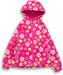 HZYBABY Boys Girls Lightweight Windbreaker Zip Hooded Jacket Fleece Lined Kids Winter Warm Windproof Rain Coat Outwear