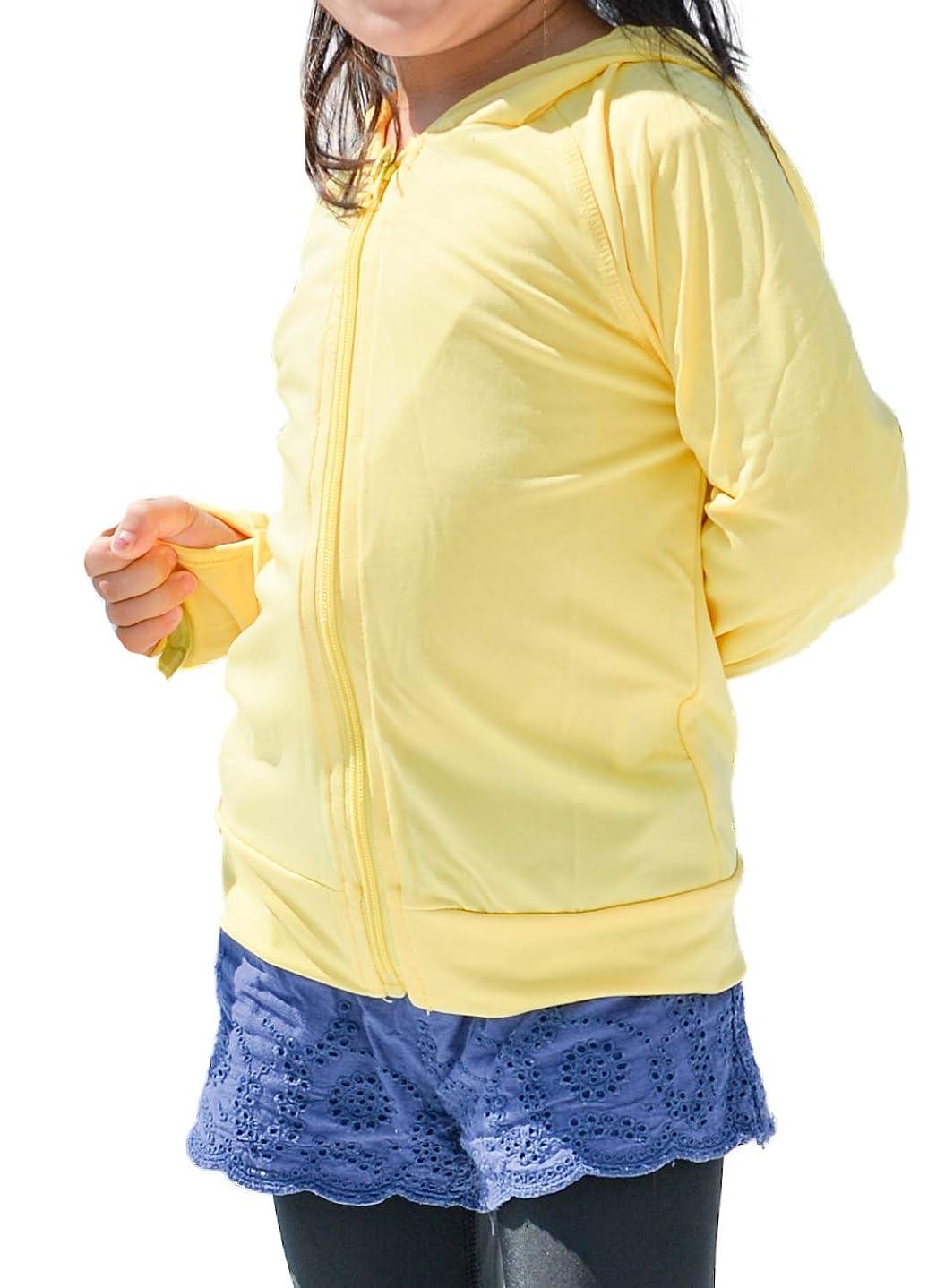 タンク対立最も早い[アウニイ] ラフ ラッシュガード UV 90%カット パーカー 長袖 日焼け止め 紫外線対策 キッズ