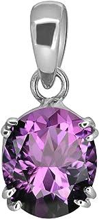 Ayush Gems 9.00 Ratti 8.50 Carat Natural Quality Katela Amethyst Silver Plated Pendant/Locket Gemstone (Top AAA+) Quality ...