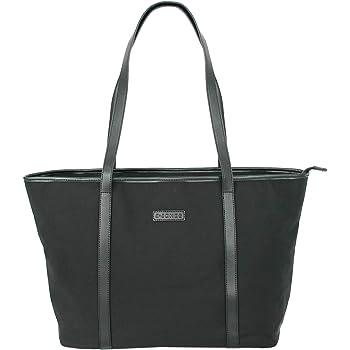 Taschen Damen Schultertasche Umhängetasche Shopper aus Nylon Handtasche Tasche groß XL in Trapezform schwarz