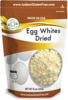 Judee's Dried Egg White Protein 8 oz -Baking, Meringue, Smoothies -Non-GMO, USA Made, USDA Certified -Produced from the Freshest of Eggs