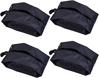 Misslo Portable Nylon Travel Shoe Bags with Zipper Closure (4, 15 inch)