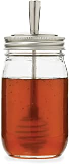 Jarware 82653 Stainless Steel Honey Dipper, Regular-Mouth, Silver