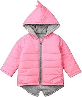 Toddler Baby Boy Girl Coat 3D Dinosaur Winter Long Sleeve Hooded Outerwear Jacket with Zipper