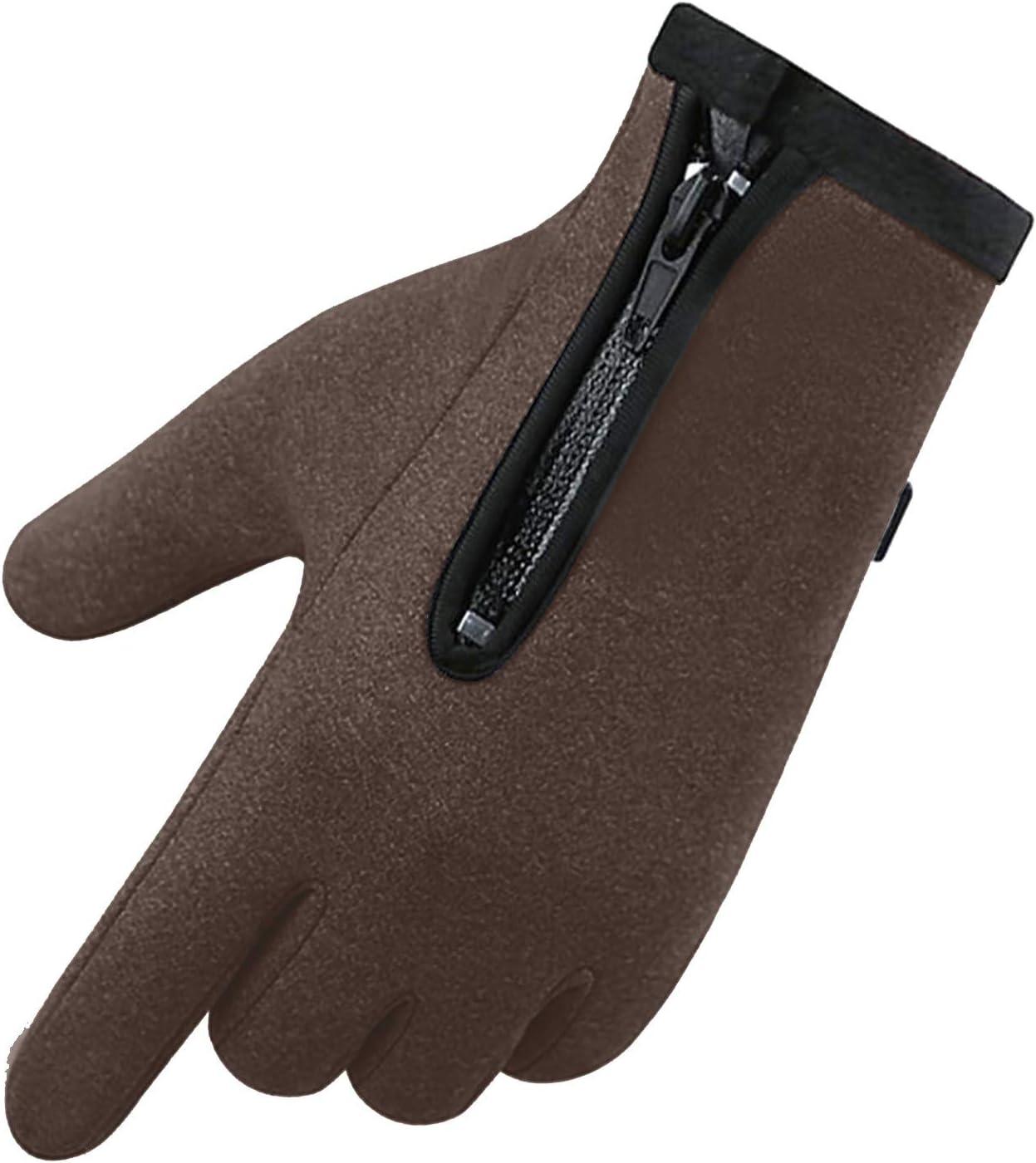 Warm Fleece Mittens Windproof Waterproof Antiskid Gloves Outdoor Sports Zipper Gloves Snow Gloves Ski Gloves