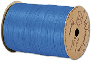 - BOWS-74900-10 3//Pack Matte Wraphia Robins Egg Blue Ribbon 1//4 x 100 Yds